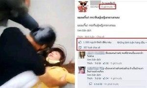 Giới trẻ Thái xôn xao cô gái Việt bị chồng đánh giữa phố