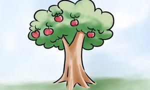 3 cách vẽ cây táo nhanh chóng mặt