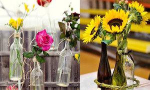 Biến chai bỏ đi thành lọ hoa xinh đẹp