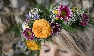Vòng hoa đội đầu xinh như công chúa