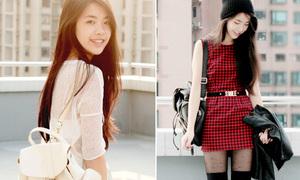 Hot blogger 17 tuổi mix đồ 'thần sầu' với ba lô