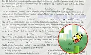 Flappy Bird vào đề thi Vật lý trường Anhxtanh