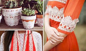 Ý tưởng trang trí đồ từ vải ren xinh xinh