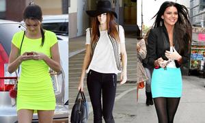 Em gái Kim khoe chân dài với style dạo phố
