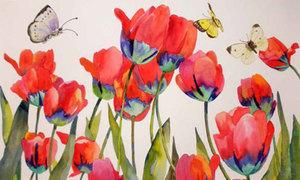 7 cách vẽ hoa tulip siêu cool