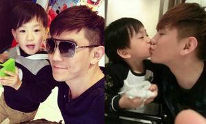 Bố con đẹp trai, sành điệu gây sốt mạng Trung Quốc