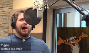 Hát 'Let It Go' bằng giọng gấu Pooh, chuột Mickey