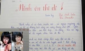 Nữ sinh trường chuyên viết nhạc chế 'Mình ôn thi đi'