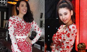 Hai người đẹp họ Trương đụng độ váy kết hoa 3D