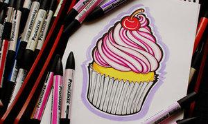 10 cách vẽ bánh cupcake đáng iu vô cùng