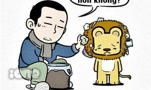 Fun pic: Sư tử, voi, mèo sẽ dọn rác như thế nào?