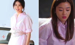 Jun Ji Hyun đụng váy sơ mi với sao Hoa ngữ