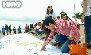 Giới trẻ Đà Nẵng vẽ tranh, nhảy flashmob trước Giờ Trái Đất