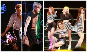 2PM thân thiện bắt tay fan, MissA tỏa sáng trên sân khấu