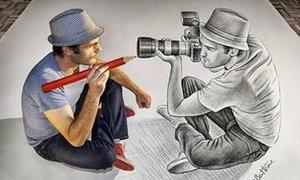 Độc đáo các tác phẩm nghệ thuật khó lường thật - giả