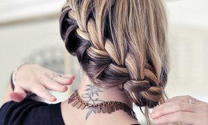 Tết tóc kiểu Pháp búi lệch một bên điệu đà