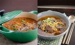 Lạ miệng canh giá đỗ thịt bò phong cách Hàn xẻng