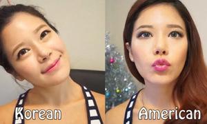 Video: Sự khác biệt giữa trang điểm kiểu Hàn - Mỹ