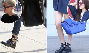 Mai Phương Thúy diện giày khoét hầm hố giống Miley Cyrus