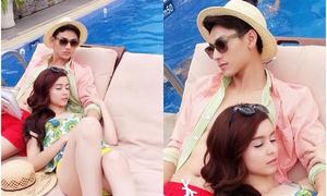 Facebook sao 11/4: Isaac ôm ấp hotgirl lai MLee bên bể bơi