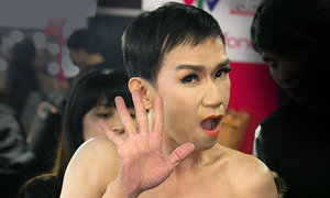 Minh Thuận tô son, trát phấn hóa Thu Minh
