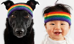 'Cặp đôi hoàn hảo' bé yêu - cún cưng siêu dễ thương