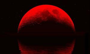 Ngắm 'mặt trăng máu' siêu ảo diễn ra trên bầu trời