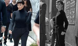 Kim cuốn hút bất ngờ với tạo hình 'đặc sệt' Audrey Hepburn