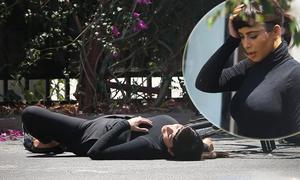 Kim 'siêu vòng 3' ngã ngửa tẽn tò vì mải đi xe tạo dáng