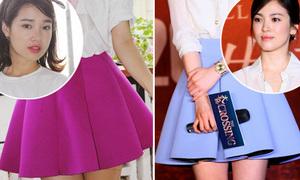 Nhã Phương, Song Hye Kyo ngọt ngào với váy loe màu sắc
