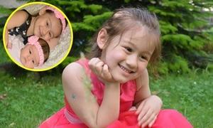 'Thiên thần nhí' gốc Việt chăm em gái cực yêu