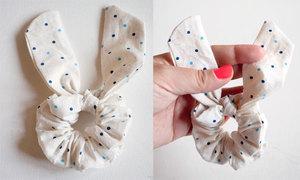 Chun buộc tóc tai thỏ xinh xinh đáng yêu