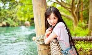 'Nữ thần' tóc dài cá tính của Đại học Vũ Hán
