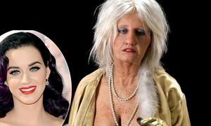 Katy Perry già, xấu khó tin trong MV