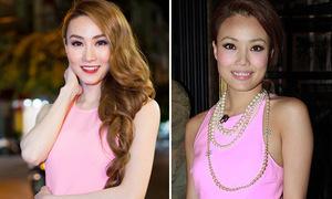 Ngân Khánh đụng váy hiệu 38 triệu đồng với mỹ nhân quốc tế