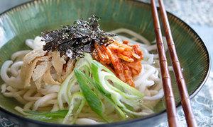 Mỳ udon kim chi dai dai, ngon miệng