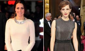 Kate Middleton vượt Emma Watson thành biểu tượng thời trang