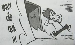 Fun pic: Chuyện bi hài trong WC trường