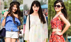 Style khoe dáng của teen châu Á ở Lễ hội mùa hè