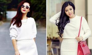 Đinh Hương, Julia Hồ so độ sành với cây trắng