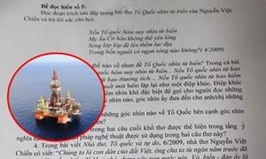 Đề Văn 12 cập nhật tình hình căng thẳng trên Biển Đông