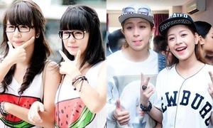 Các cặp hot girls Việt giống nhau như chị em