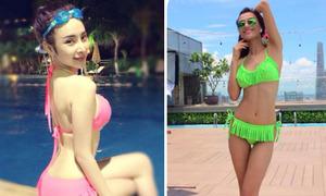Sao Việt đua nhau diện bikini màu mè giải nhiệt ngày nóng
