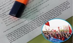 Thầy giáo nhắn nhủ trong đề thi Toán: Học tốt là yêu nước