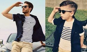 Nhóc 4 tuổi thành fashionista nhờ copy phong cách