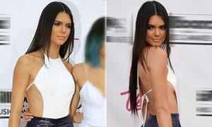Hot girl Hollywood khoe vòng 1 bằng yếm siêu kiệm vải