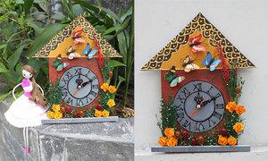 Tự làm đồng hồ hình ngôi nhà có 1-0-2