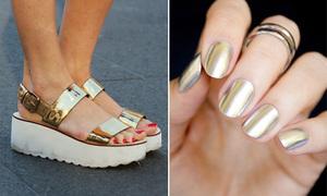 Thời trang vàng, ánh kim lên ngôi với đủ kiểu biến tấu