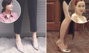 Lưu Hương Giang, Linh Rin đo độ sành với giày ánh kim