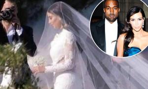 Bức ảnh cưới hiếm hoi của Kim Kardashian tại Italy